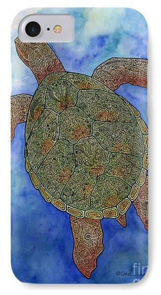 Watercolor Tribal Turtle  Phone Case by Carol Lynne
