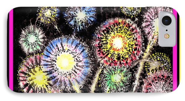 Watercolorful Fireworks IPhone Case