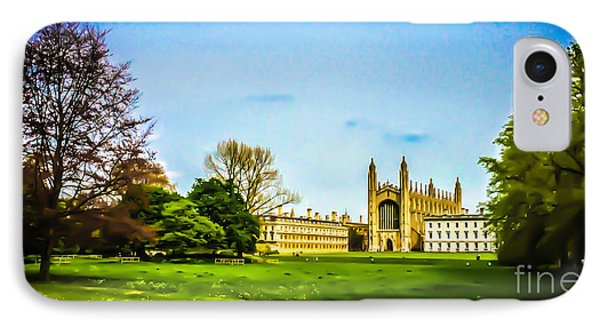 Watercolour College IPhone Case by David Warrington
