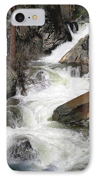 Waterfall Along The Rubicon Trail - Lake Tahoe Phone Case by Patricia Sanders