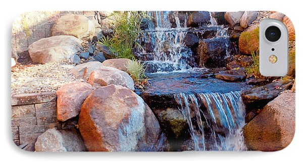 Waterfall Among Rocks IPhone Case by Barb Baker