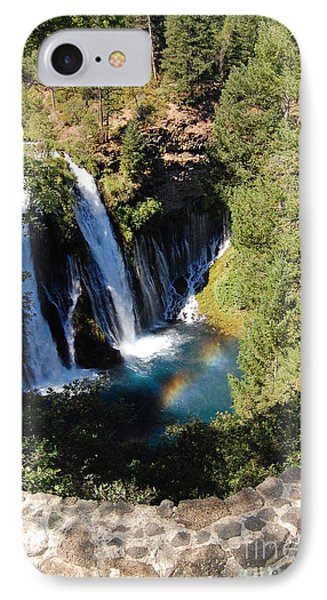 IPhone Case featuring the photograph Waterfall And Rainbow 2 by Debra Thompson