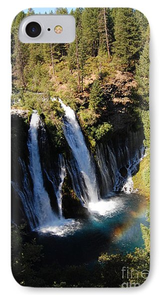 IPhone Case featuring the photograph Waterfall And Rainbow by Debra Thompson