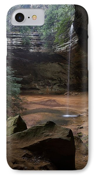 Waterfall At Ash Cave IPhone Case by Dale Kincaid