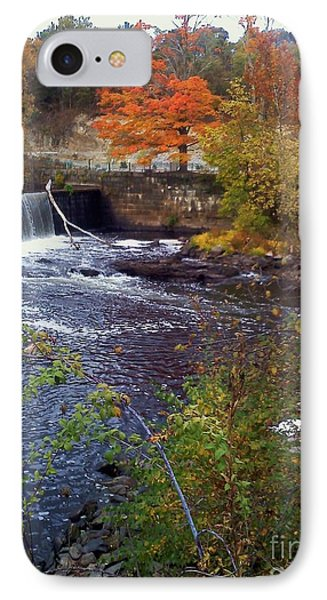 Waterfall At Blackstone River IPhone Case