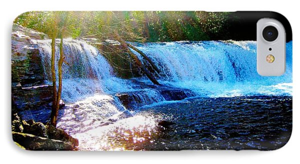 Waterfall At Dupont Forest Park Nc 2 IPhone Case by Annie Zeno