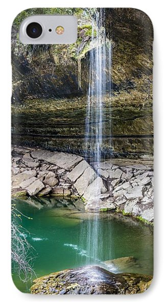 Waterfall At Hamilton Pool IPhone Case