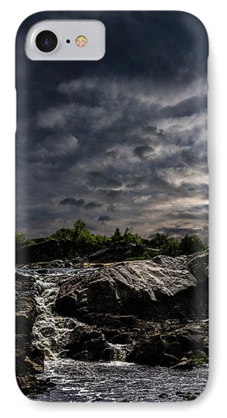 Waterfall At Sunrise Phone Case by Bob Orsillo