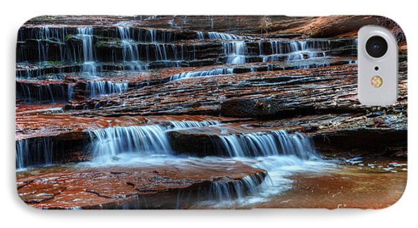 Waterfall Cascade North Creek Phone Case by Bob Christopher