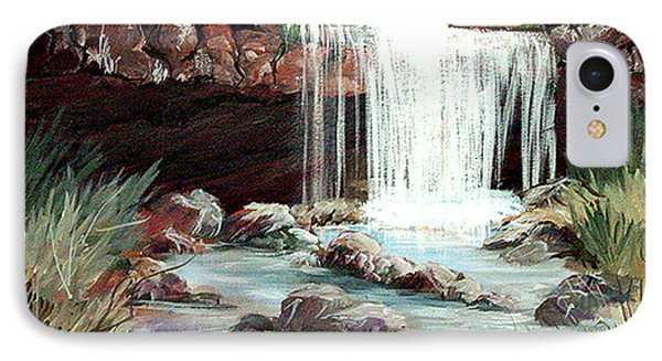 IPhone Case featuring the painting Waterfall by Dorothy Maier