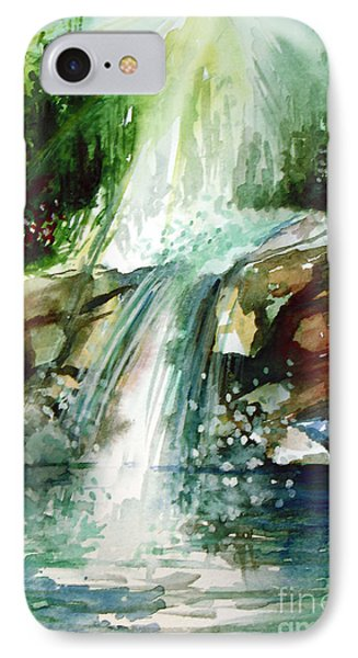 IPhone Case featuring the painting Waterfall Expression by Allison Ashton