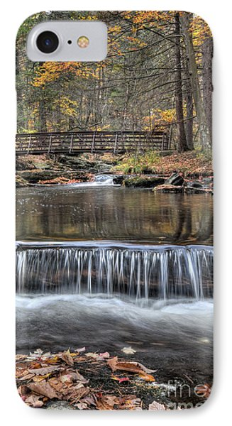 Waterfall - George Childs State Park IPhone Case by Paul Ward