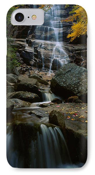 Waterfall In A Forest, Arethusa Falls IPhone Case