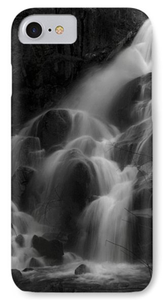 Waterfall In Black And White Phone Case by Bill Gallagher