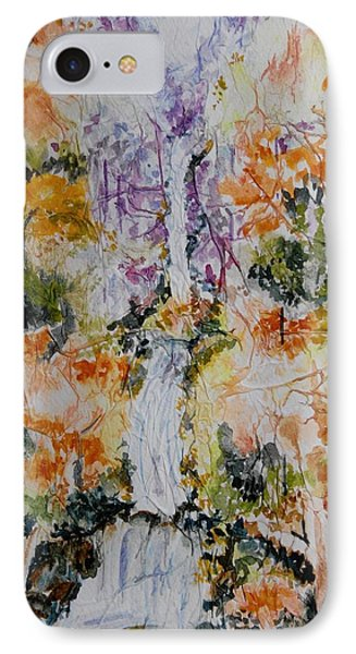 Waterfall In Forest IPhone Case by Geeta Biswas