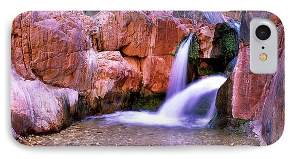 Waterfall In Grand Canyon National IPhone Case by Panoramic Images