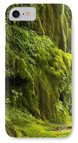IPhone Case featuring the photograph Waterfall In Green by Bryan Keil