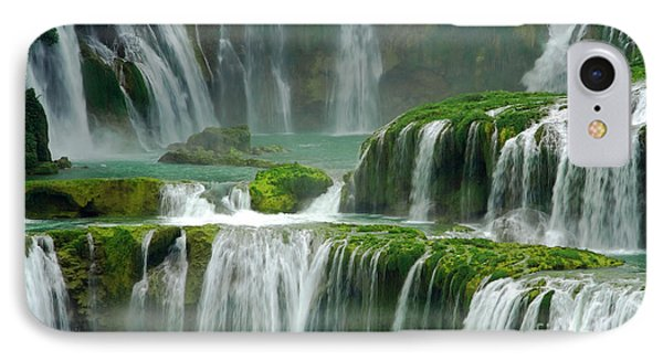 Waterfall In Green IPhone Case by Charline Xia