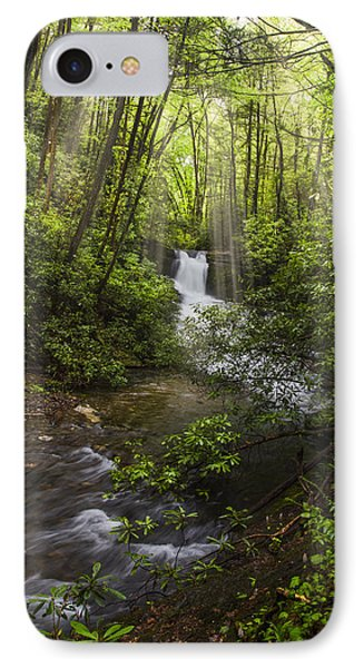 Waterfall In The Forest Phone Case by Debra and Dave Vanderlaan