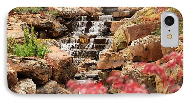 IPhone Case featuring the photograph Waterfall In The Garden by Elizabeth Budd