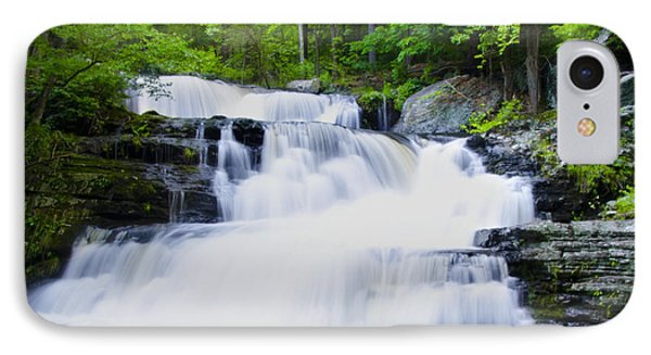 Waterfall In The Pocono Mountains Phone Case by Bill Cannon
