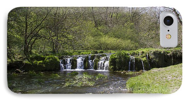 Waterfall Lathkill Dale Derbyshire IPhone Case