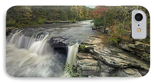 Waterfall Mulberry River Arkansas IPhone Case by Tim Fitzharris