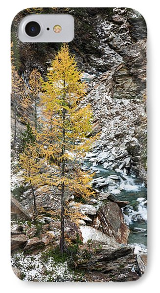 Waterfall Of Creek Plimabach In Valley IPhone Case