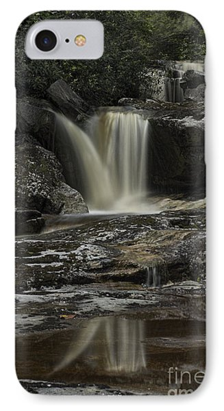 Waterfall Reflection On Big Run River  Phone Case by Dan Friend