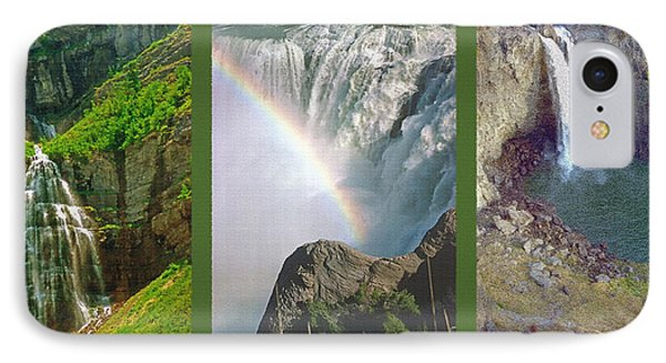 Waterfall Triptych IPhone Case by Steve Ohlsen