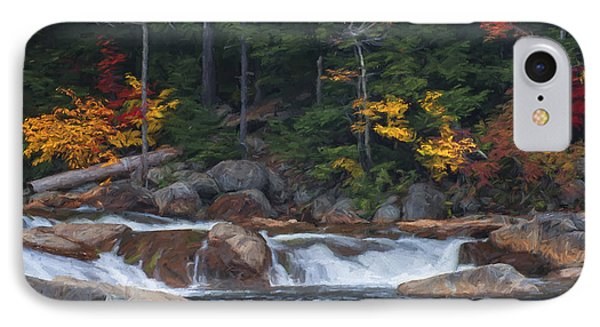 Waterfall - White Mountains - New Hampshire IPhone Case by Jean-Pierre Ducondi