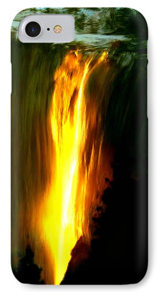 IPhone Case featuring the painting Waterfalls By Light by Bruce Nutting