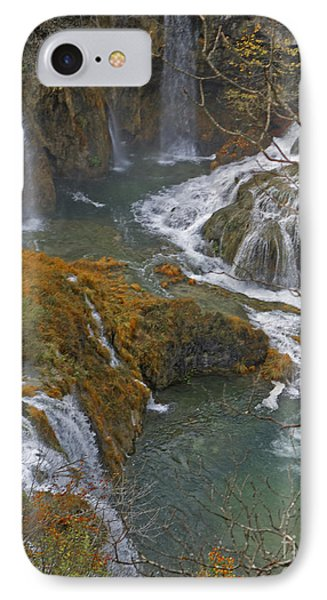 Waterfalls Connecting Plitvice Lakes IPhone Case by Joan McArthur