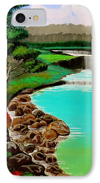 IPhone Case featuring the painting Waterfalls by Cyril Maza