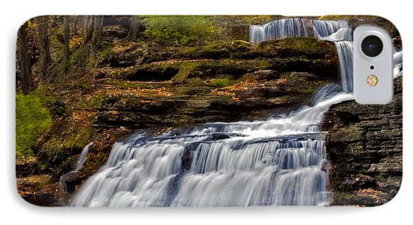 Waterfalls In The Fall IPhone Case by Susan Candelario