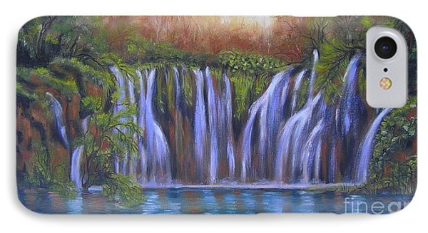 IPhone Case featuring the painting Waterfalls - Plitvice Lakes by Vesna Martinjak