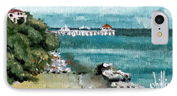 Waterfront At Southport IPhone Case by Jim Phillips