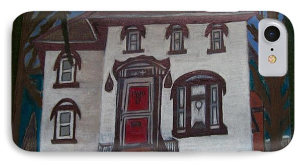 IPhone Case featuring the drawing Historic 7th Street Home In Menominee by Jonathon Hansen