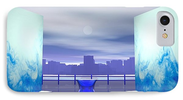 IPhone Case featuring the digital art Waterfront by John Pangia