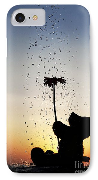 Watering A Flower Phone Case by Tim Gainey