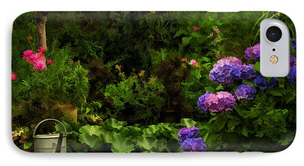 Watering Can In A Beautiful Garden IPhone Case