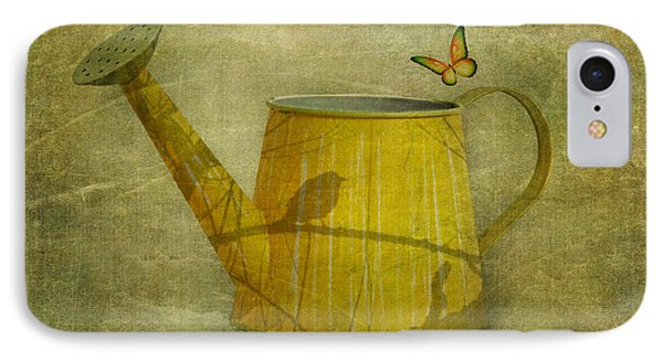 Watering Can With Texture IPhone Case by Tom Mc Nemar