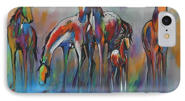 Watering Hole 2 IPhone Case by Cher Devereaux