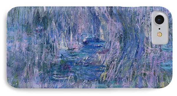 Waterlilies And Reflections Of A Willow Tree IPhone Case by Claude Monet