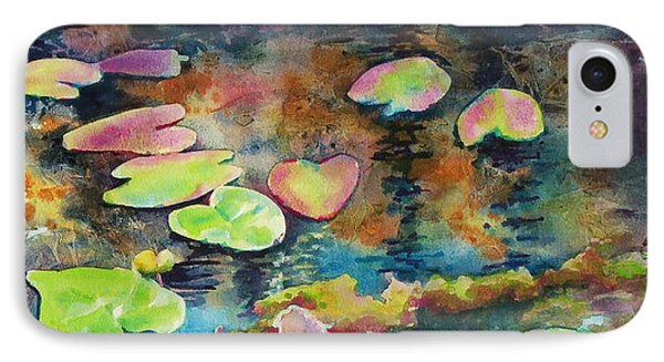 IPhone Case featuring the painting Waterlilies In Shadow by Kathy Braud