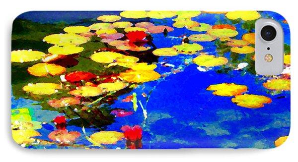 Waterlilies Pond Beautiful Nympheas Hommage De Monet Jardin A Giverny Water Scapes Carole Spandau IPhone Case by Carole Spandau
