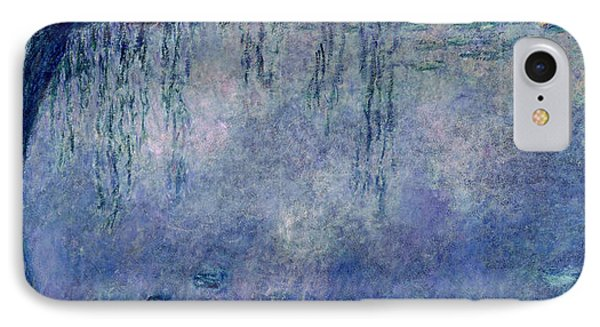 Waterlilies Two Weeping Willows IPhone Case by Claude Monet