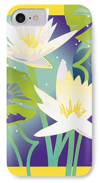 Waterlilies Yellow Border IPhone Case