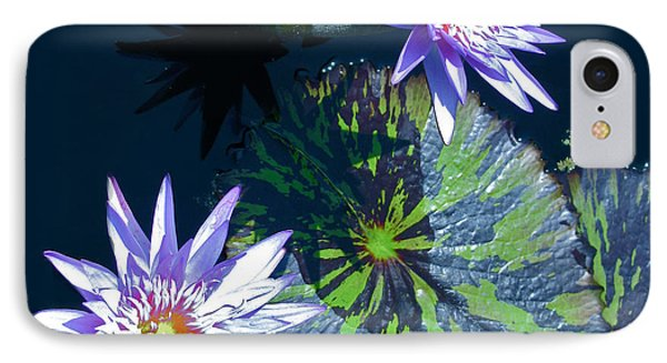 Waterlily And Pads Phone Case by Debra     Vatalaro