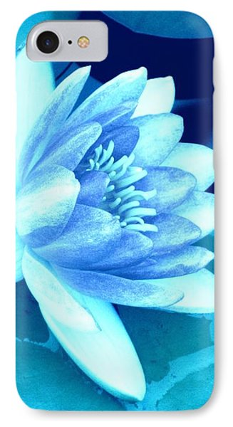IPhone Case featuring the photograph Waterlily Blue 3 by Margaret Newcomb